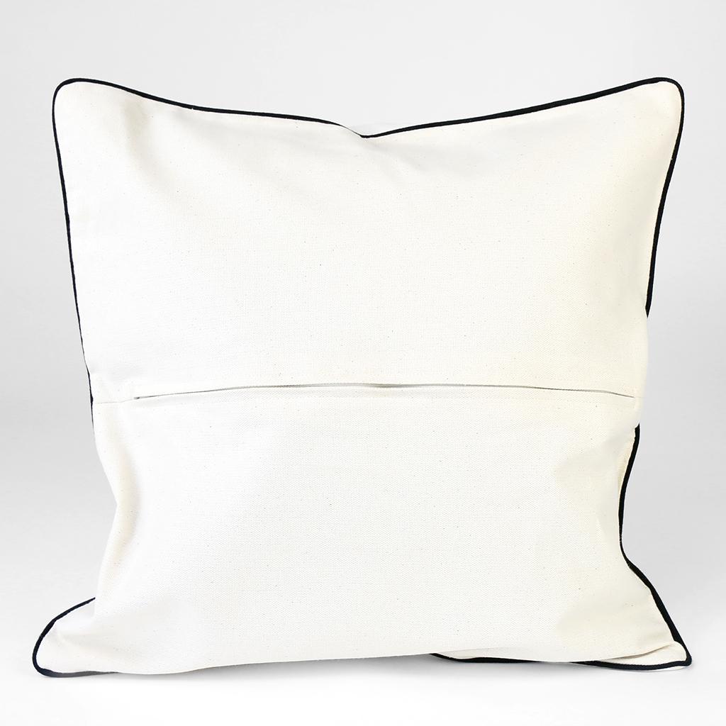 poszewka na poduszkę, poszewka w kolorze ecru z czarną wypustką